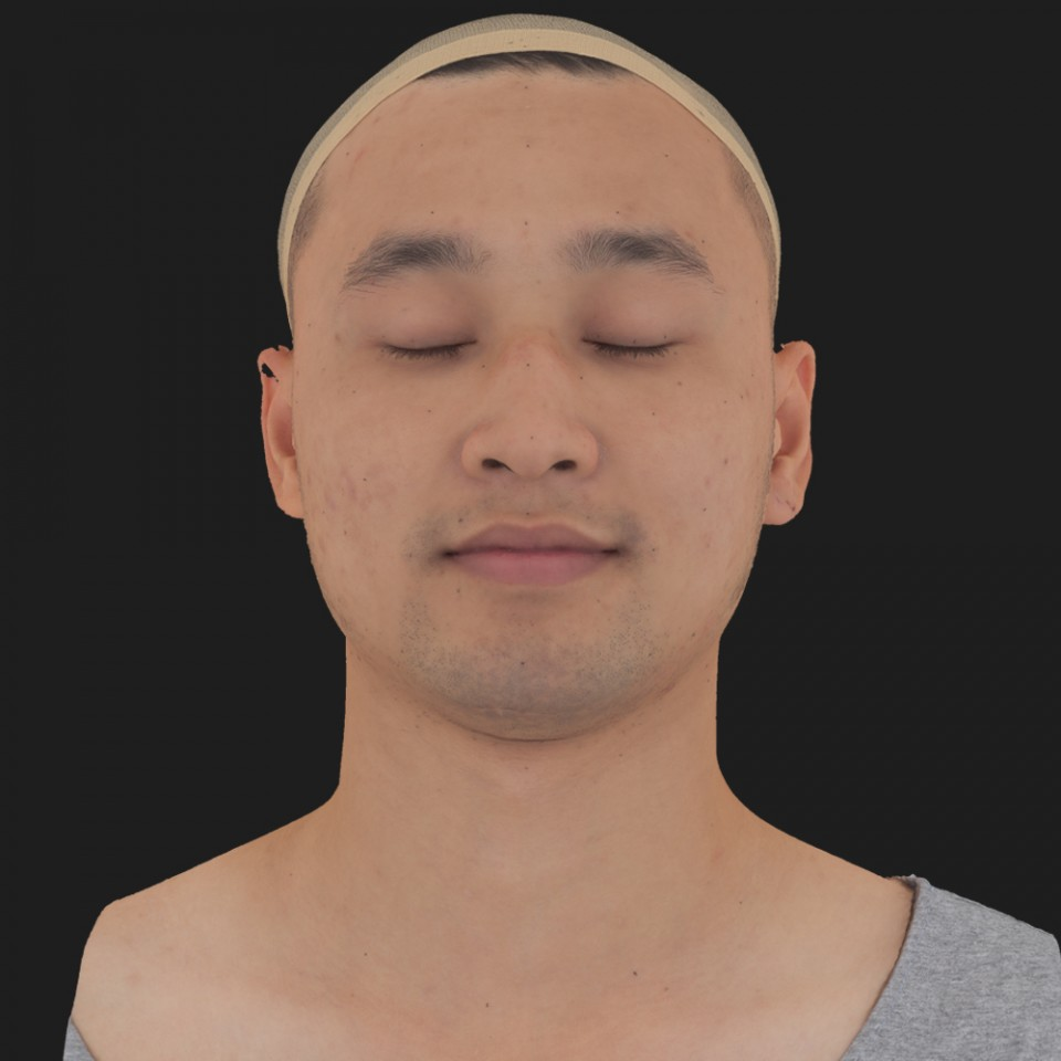 Erik Sato 02 Neutral-Eyes Closed