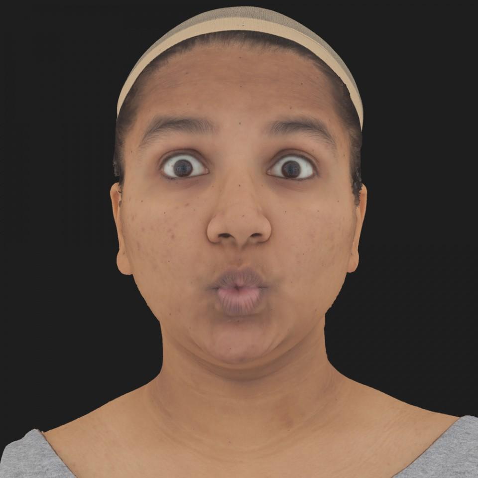 Priyanka Basu 11 Phoneme OO-Brow Raise Eyes Open Wide