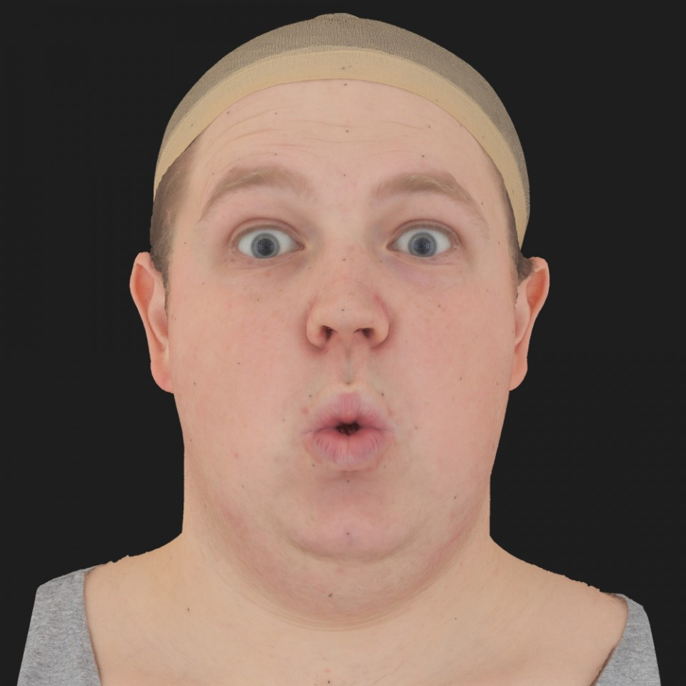 Ricky Walker 11 Phoneme OO-Brow Raise Eyes Open Wide