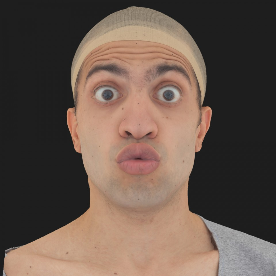 Samir Farsut 11 Phoneme OO-Brow Raise Eyes Open Wide
